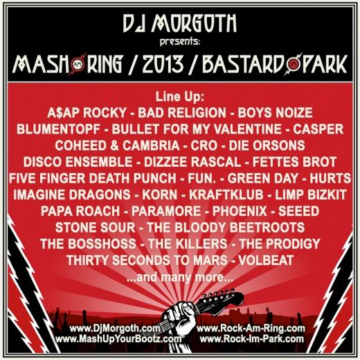 DJ Morgoth präsentiert den Mix zu Mash am Ring / Bastard im Park - 2013 Mix